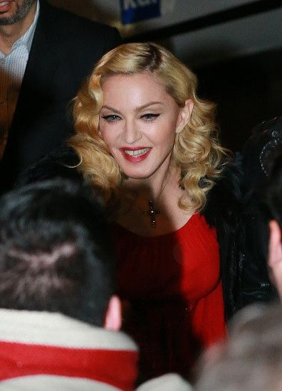 Madonna at the Che Tempo Che Fa taping in Milan - 1 March 2015 (11)