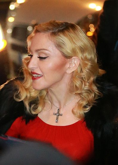 Madonna at the Che Tempo Che Fa taping in Milan - 1 March 2015 (13)