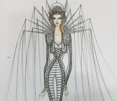 Madonna Brit Awards Sketch Nicolas Jebran
