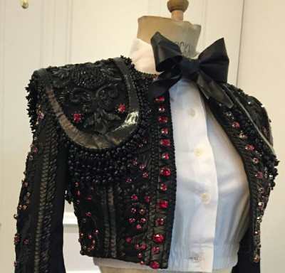 Madonna wears custom Nicolas Jebran Matador inspired jacket at the 2015 Brit Awards Front