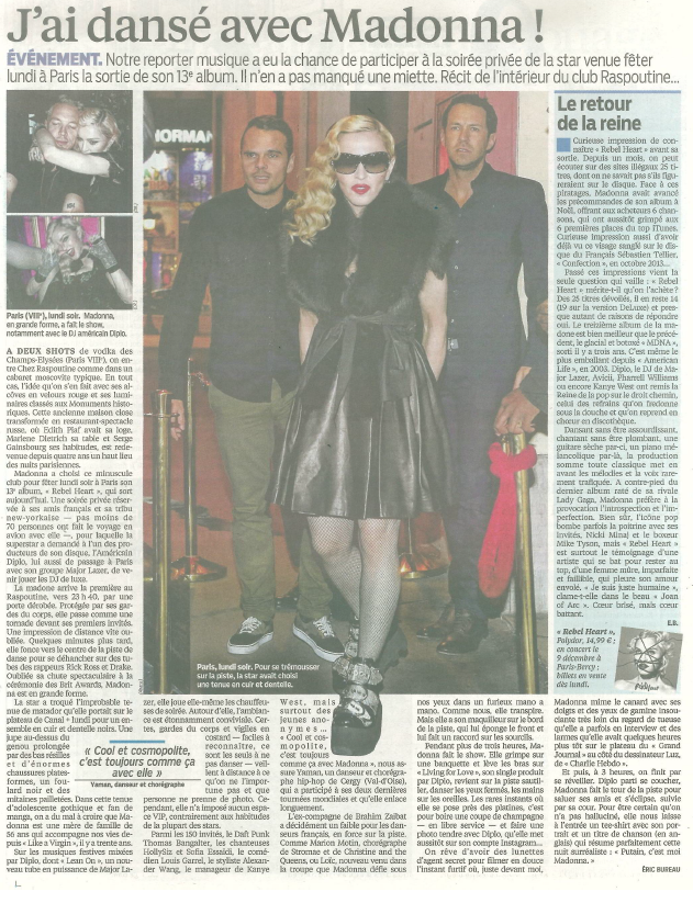 Madonna Rebel Heart Critique - Le Parisien