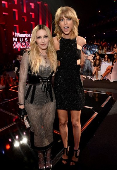 Madonna at the iHeartRadio Music Awards and Taylor Swift (1)