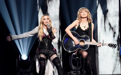 Madonna at the iHeartRadio Music Awards and Taylor Swift (8)