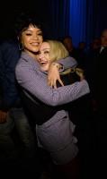 Madonna and Rihanna at the TIDAL press conference (1)