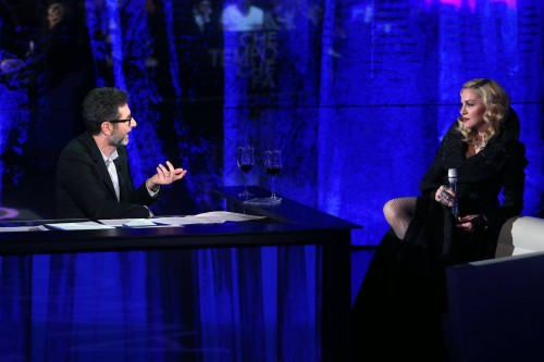 First official pictures of Madonna on Che Tempo Che Fa (1)