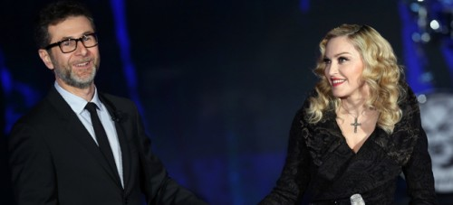 First official pictures of Madonna on Che Tempo Che Fa (3)