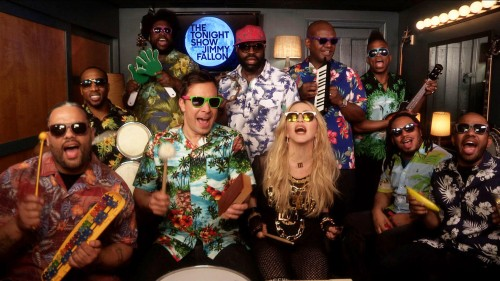 Madonna sings Holiday with The Roots on The Tonight Show starring Jimmy Fallon 01