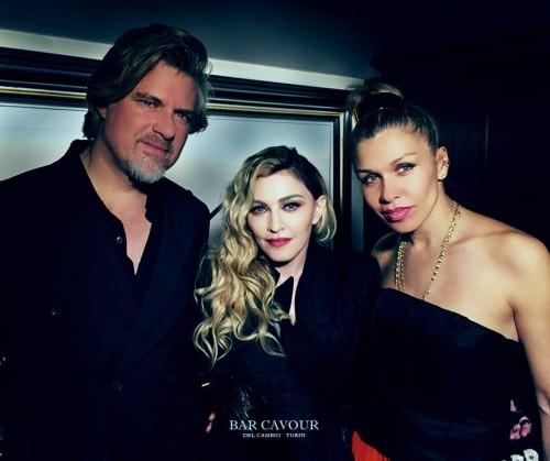 Madonna celebrated Monte Pittman's birthday at the Del Cambio restaurant in Turin