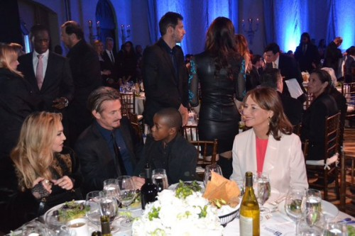 Madonna and Segolene Royal at the Help Haiti Home Gala, Beverly Hills - 9 January 2016 (2)