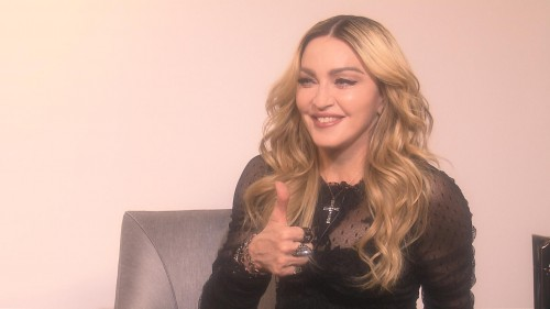 Exclusive Madonna interview for Japanese News Zero - 18 February 2016 01