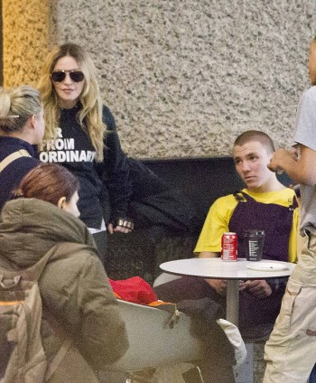 Madonna out and about in London 18 April - Barcbican London
