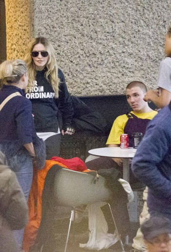 Madonna out and about in London 18 April - Barcbican London 02
