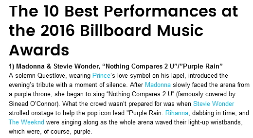 Madonna Billboard Music Award Best performance