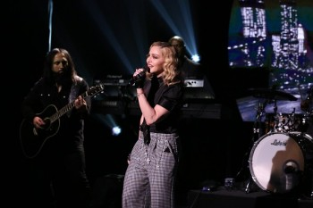 Madonna performs Borderline on Tonight Show Starring Jimmy Fallon (2)