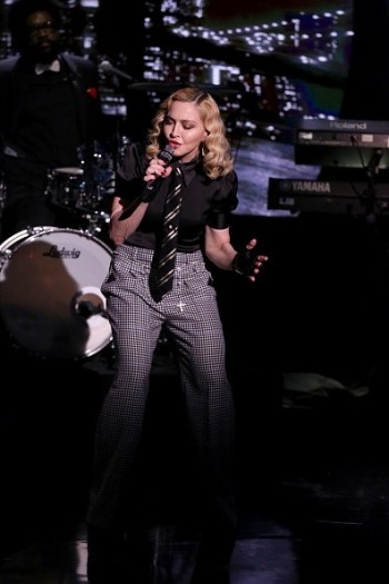 Madonna performs Borderline on Tonight Show Starring Jimmy Fallon (4)