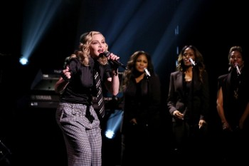 Madonna performs Borderline on Tonight Show Starring Jimmy Fallon (6)