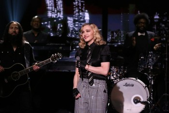 Madonna performs Borderline on Tonight Show Starring Jimmy Fallon (8)