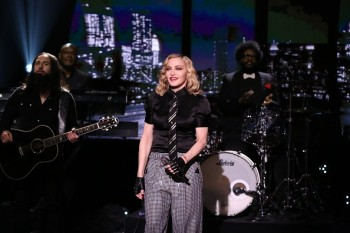 Madonna performs Borderline on Tonight Show Starring Jimmy Fallon (10)