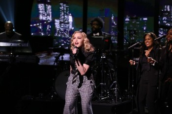 Madonna performs Borderline on Tonight Show Starring Jimmy Fallon (11)