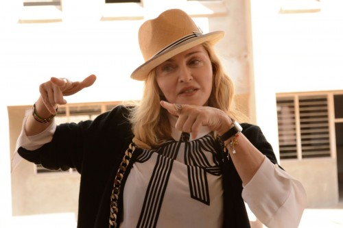 Madonna visits Queen Elizabeth Central Hospital in Blantyre, Malawi - 11 July 2016