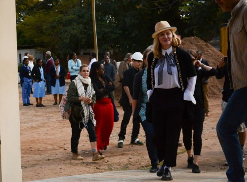 Madonna visits Queen Elizabeth Central Hospital in Blantyre, Malawi - 11 July 2016 03