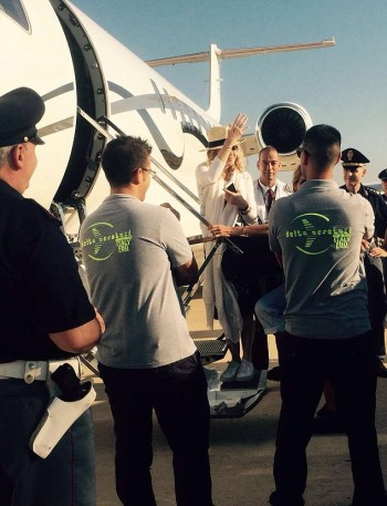 Madonna spotted at Brindisi airport, Italy - July 2016 (1)