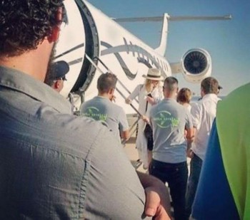 Madonna spotted at Brindisi airport, Italy - July 2016 (6)