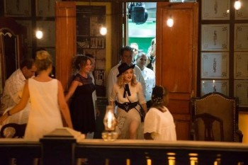 Madonna at La Guarida in Havana, Cuba - August 2016 - Pictures & Video (5)