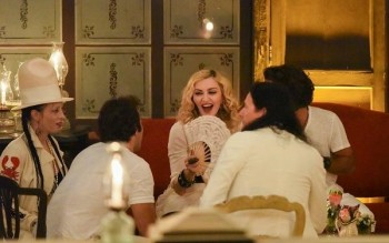 Madonna at La Guarida in Havana, Cuba - August 2016 - Pictures & Video (22)