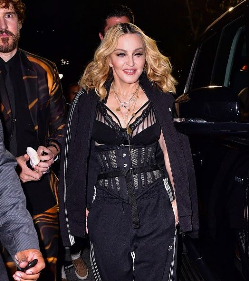 Madonna at the Alexander Wang Fashion Show, New York - 10 September 2016 - Pictures & Videos (11)