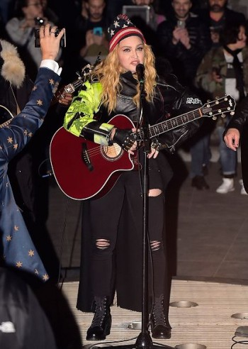 Madonna performs 5 acoustic songs at Washington Square Park  New York (5)