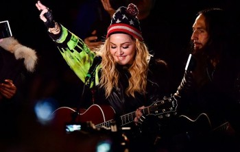 Madonna performs 5 acoustic songs at Washington Square Park  New York (31)