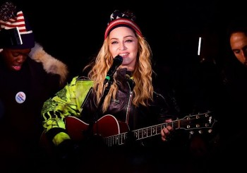 Madonna performs 5 acoustic songs at Washington Square Park  New York (41)