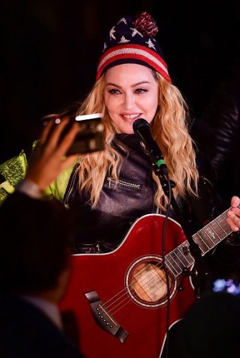 Madonna performs 5 acoustic songs at Washington Square Park  New York (44)