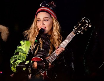 Madonna performs 5 acoustic songs at Washington Square Park  New York (45)