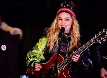 Madonna performs 5 acoustic songs at Washington Square Park  New York (47)