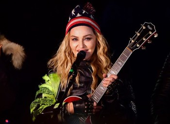 Madonna performs 5 acoustic songs at Washington Square Park  New York (50)