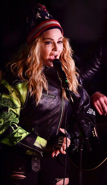 Madonna performs 5 acoustic songs at Washington Square Park  New York (51)