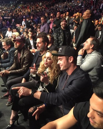 Madonna attends UFC 205 at Madison Square Garden, New York - 12 November 2016 (1)