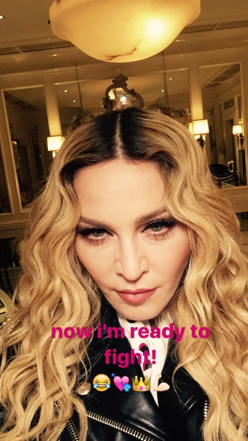 Madonna attends UFC 205 at Madison Square Garden, New York - 12 November 2016 10