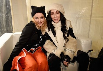 Madonna sings Express Yourself and Human Nature at Women's March on Washington Cher (1)