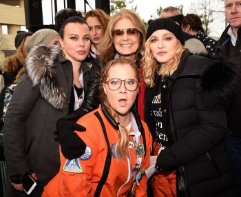 Madonna sings Express Yourself and Human Nature at Women's March on Washington Cher (2)