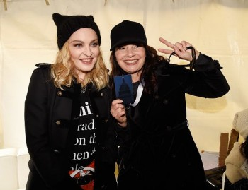 Madonna sings Express Yourself and Human Nature at Women's March on Washington Cher (3)