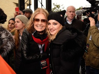 Madonna sings Express Yourself and Human Nature at Women's March on Washington Cher (5)