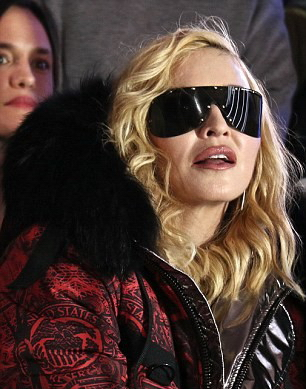 Madonna attends Philipp Plein fashion show, New York - 13 February 2017 (2) (13)