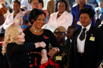 Madonna attends The Mercy James Centre opening in Blantyre, Malawi 11 July 2017 (5)
