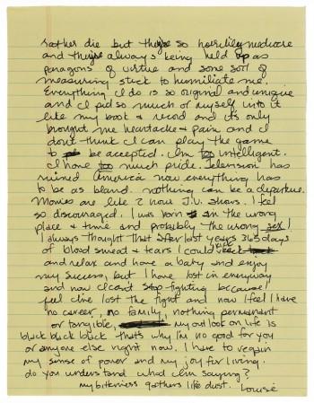 Madonna Personal Letter Sharon Stone Whitney Houston 02