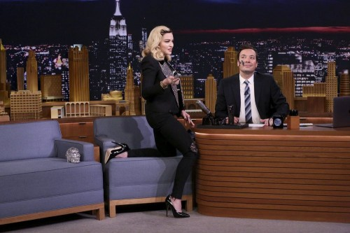 Madonna on The Tonight Show Starring Jimmy Fallon - 25 Sept 2017 - 01