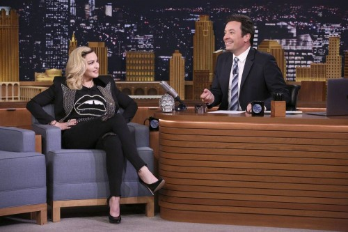 Madonna on The Tonight Show Starring Jimmy Fallon - 25 Sept 2017 - 02