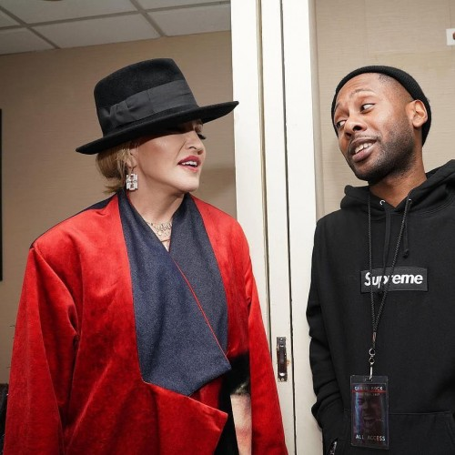 Madonna attends Total Blackout Tour at MSG New York